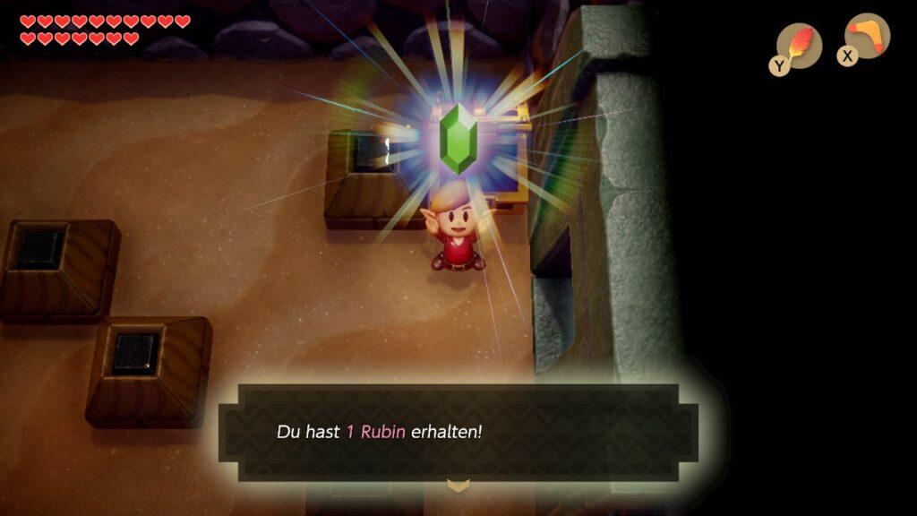 Link's Awakening verwöhnt euch mit 1-Rubin-Truhen