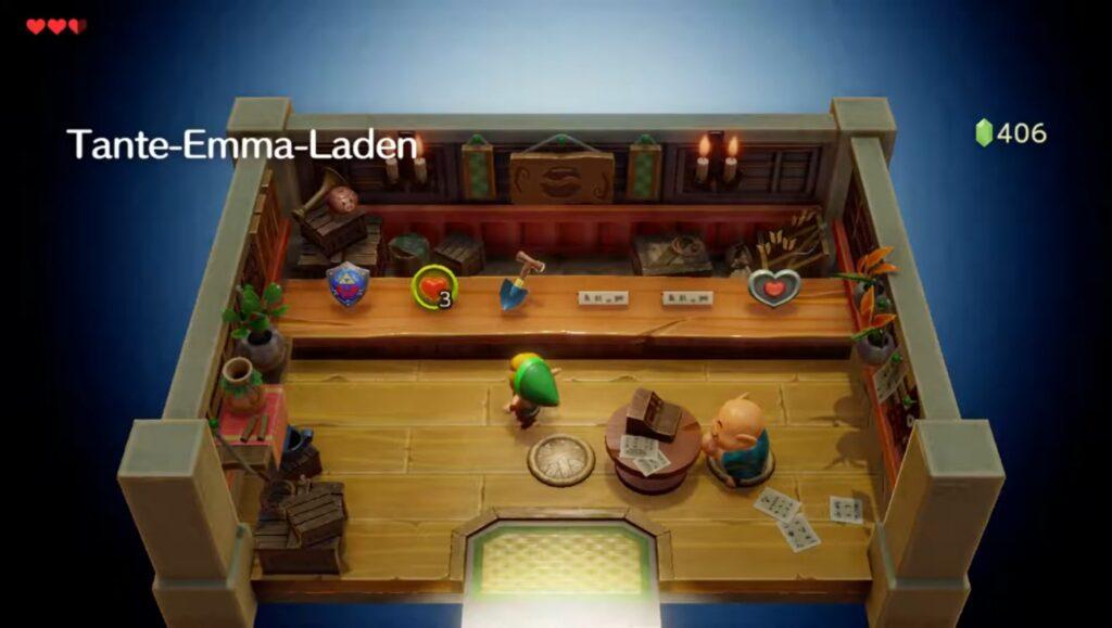 Der Tante-Emma-Laden in Link's Awakening