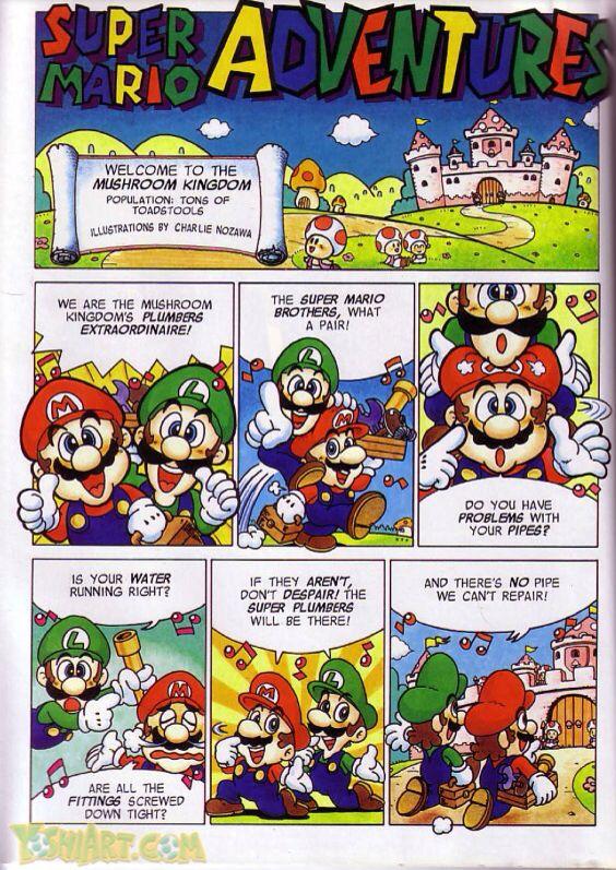 So sehen die Super Mario Adventures Comics aus