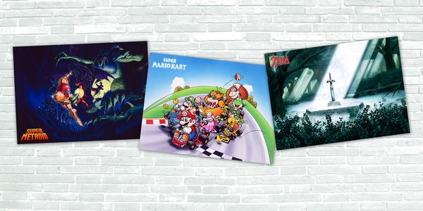 MyNintendo Poster Super Metroid A Link to the Past Mario Kart
