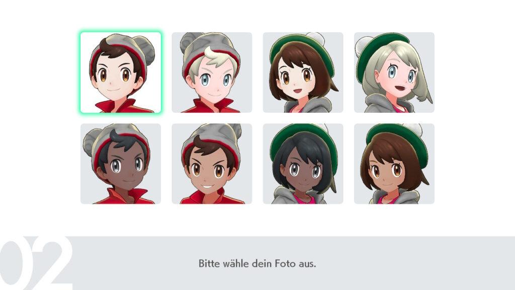 Das Foto zeigt die Avatarbilder von Pokémon Schwert und Schild.