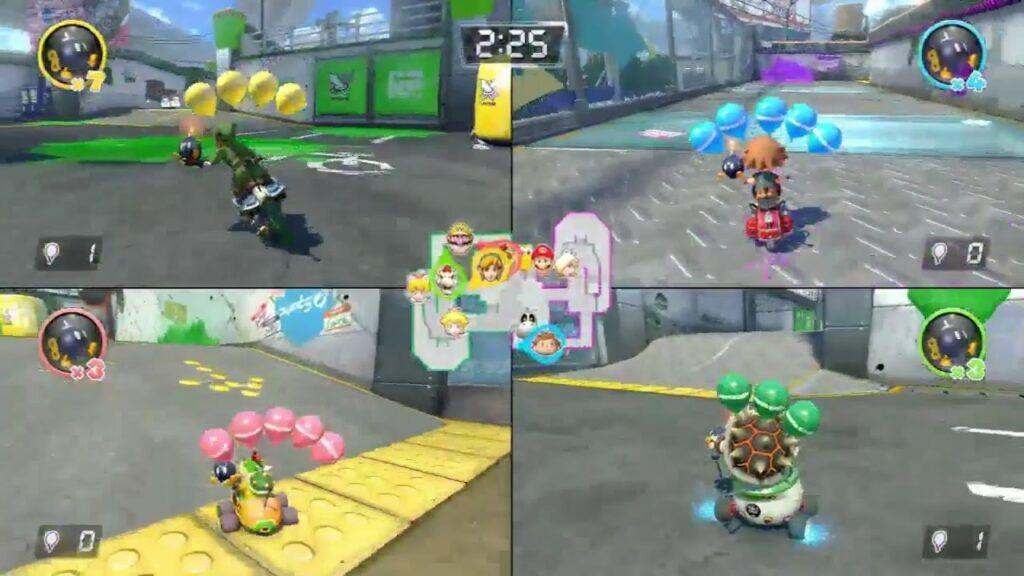 Offline vs. Online Multiplayer Mario Kart 4 Spieler Splitscreen