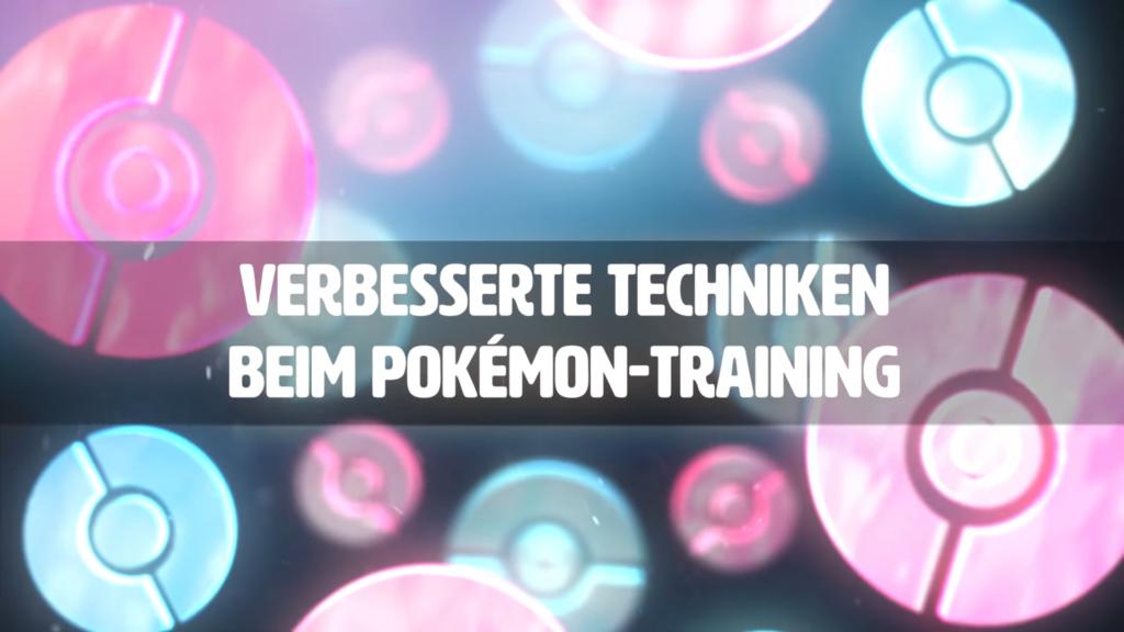 """Das Foto zeigt ein Bild von Nintendo mit dem Schriftzug """"Verbesserte Techniken beim Pokémon-Training""""."""