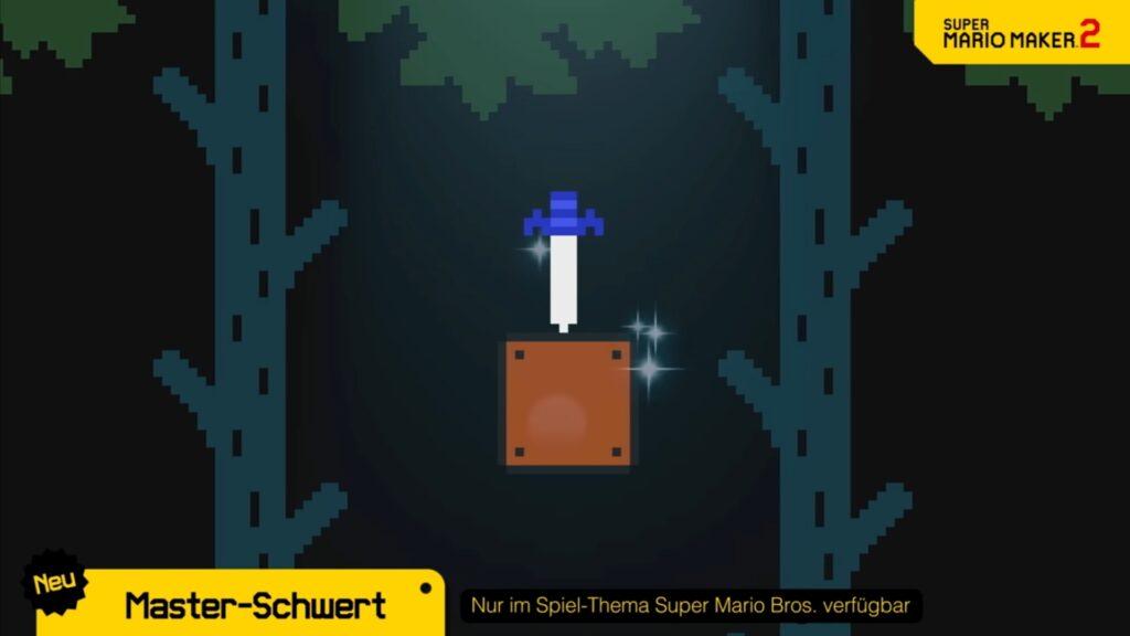 Das Master-Schwert ist nun in Super Mario Maker 2 einsetzbar