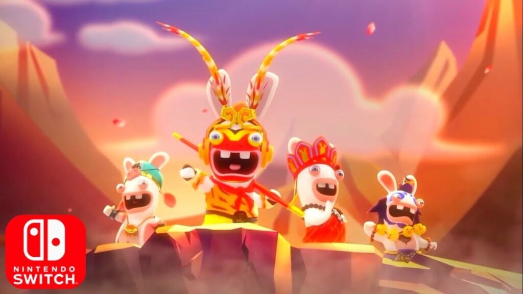 Das Foto zeigt Rabbids: Adventure Party. Das neue Rabbids Game.