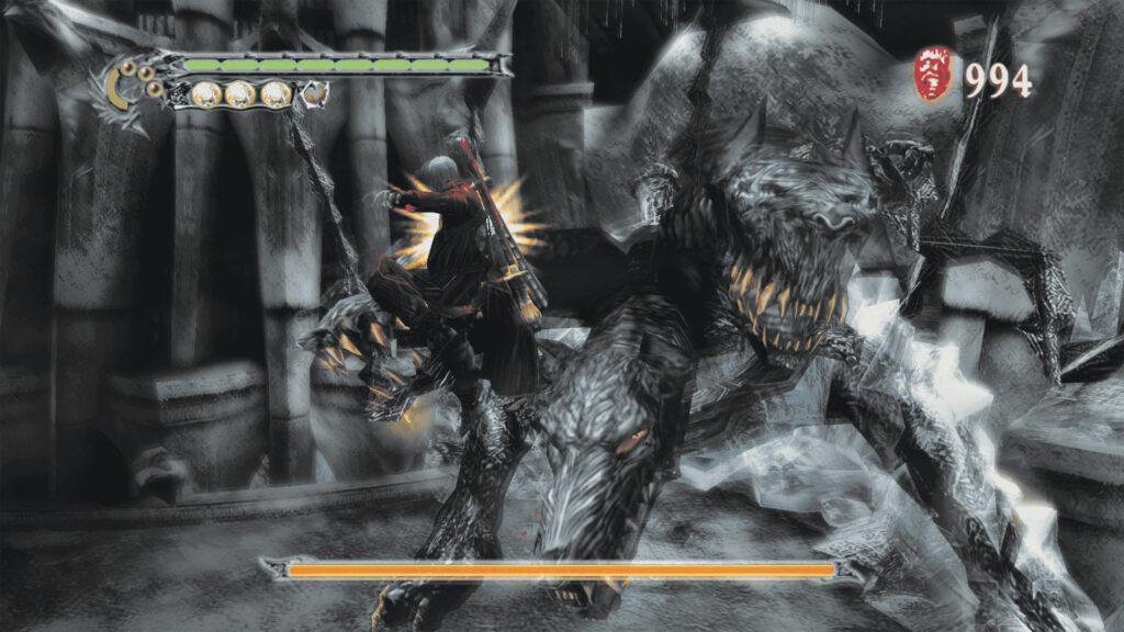 Das Foto zeigt eine Kampfszene aus Devil May Cry 3.