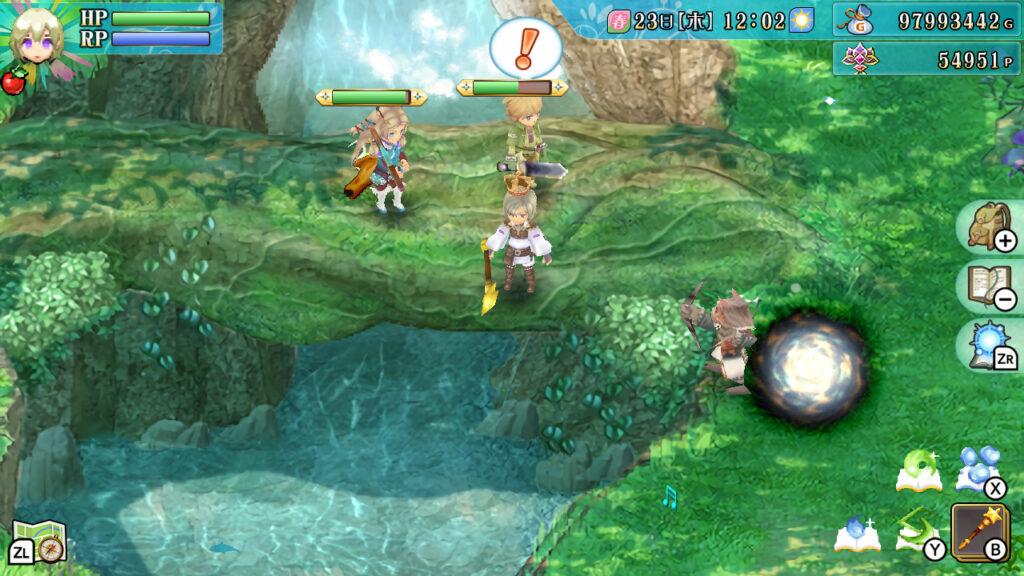 Das Bild zeigt das Spielgeschehen in Rune Factory 4.