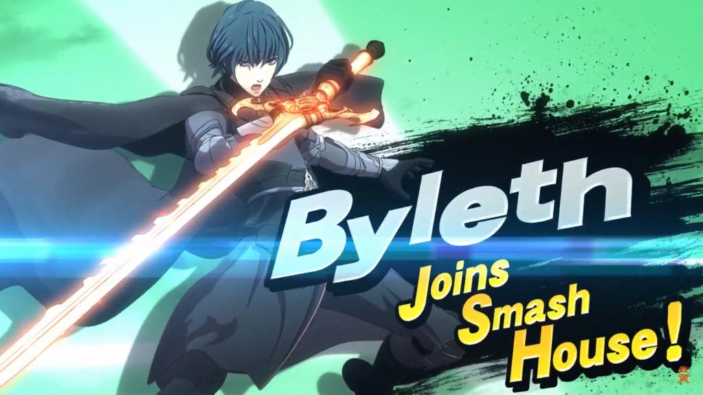 Das Foto zeigt Byleth in männlicher Form aus Fire Emblem Three Houses; letzter Kämpfer des ersten Fighters Pass von Super Smash Bros. Ultimate
