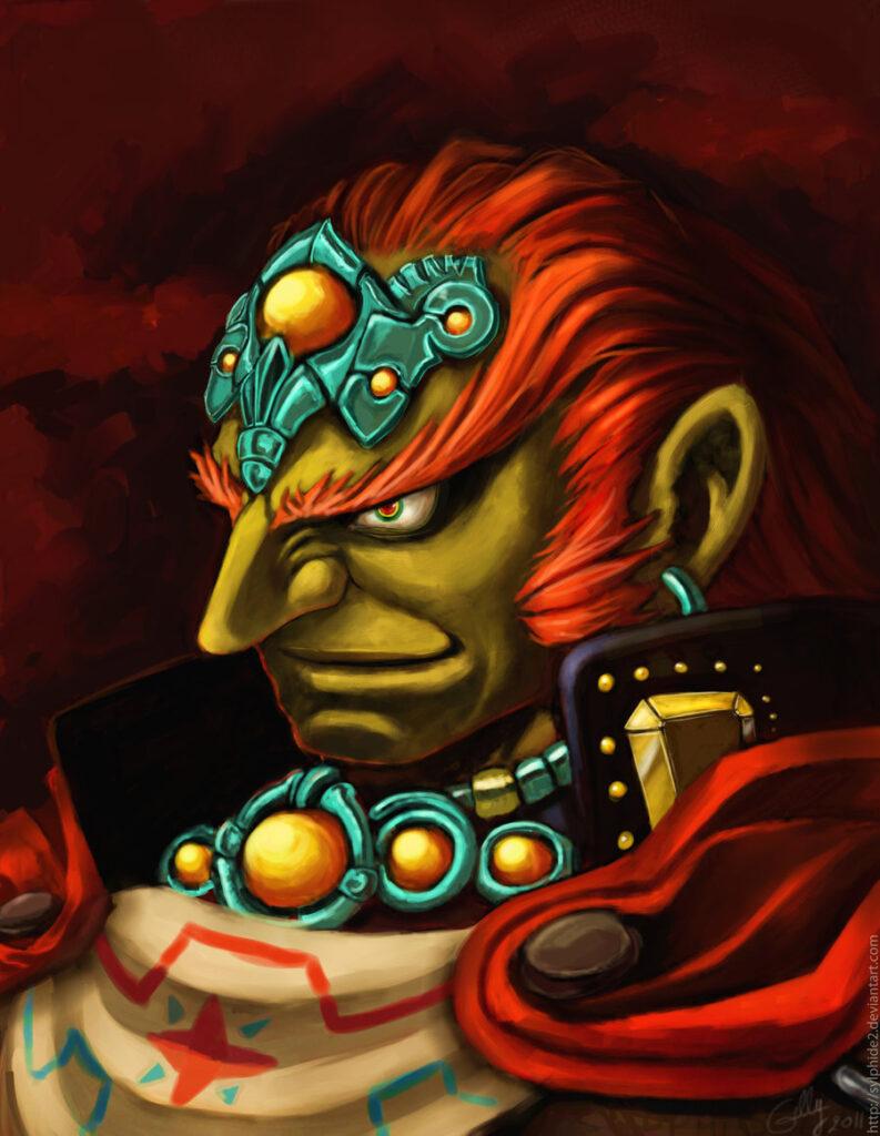 Das Bild zeigt ein Portrait von Hexenmeister Ganondorf aus The Legenf of Zelda: Ocarina of Time.