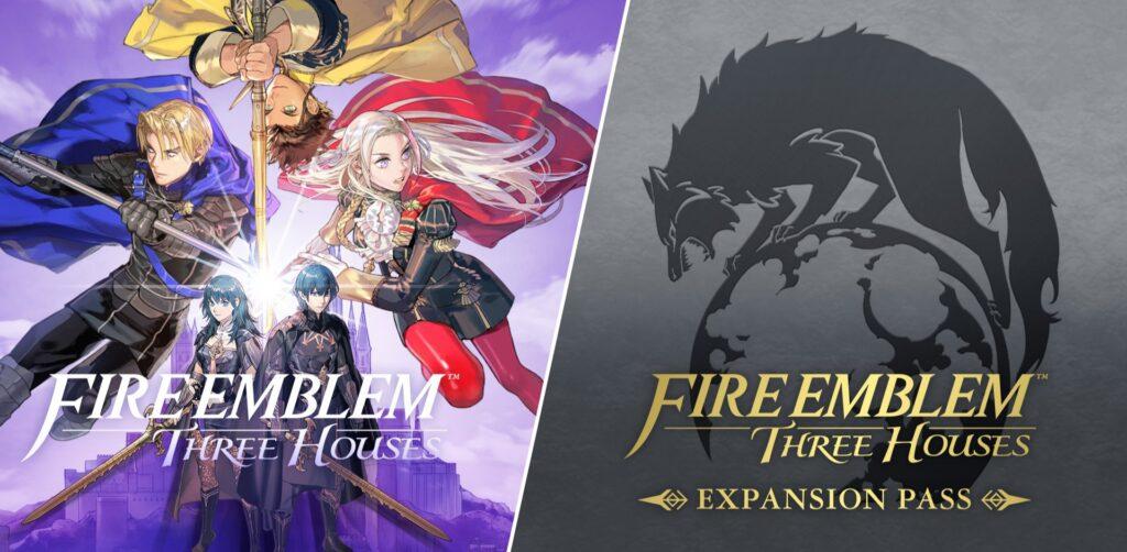 Das Bild zeigt das Cover zu Fire Emblem: Three Houses und dem Erweiterungspass.