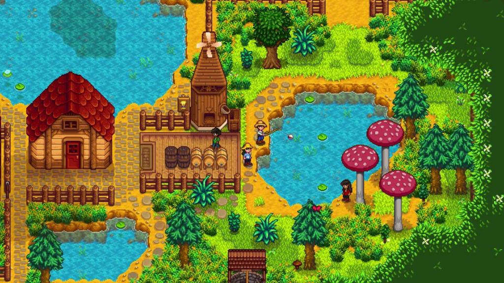 Das Bild zeigt einen Farmausschnitt von Stardew Valley
