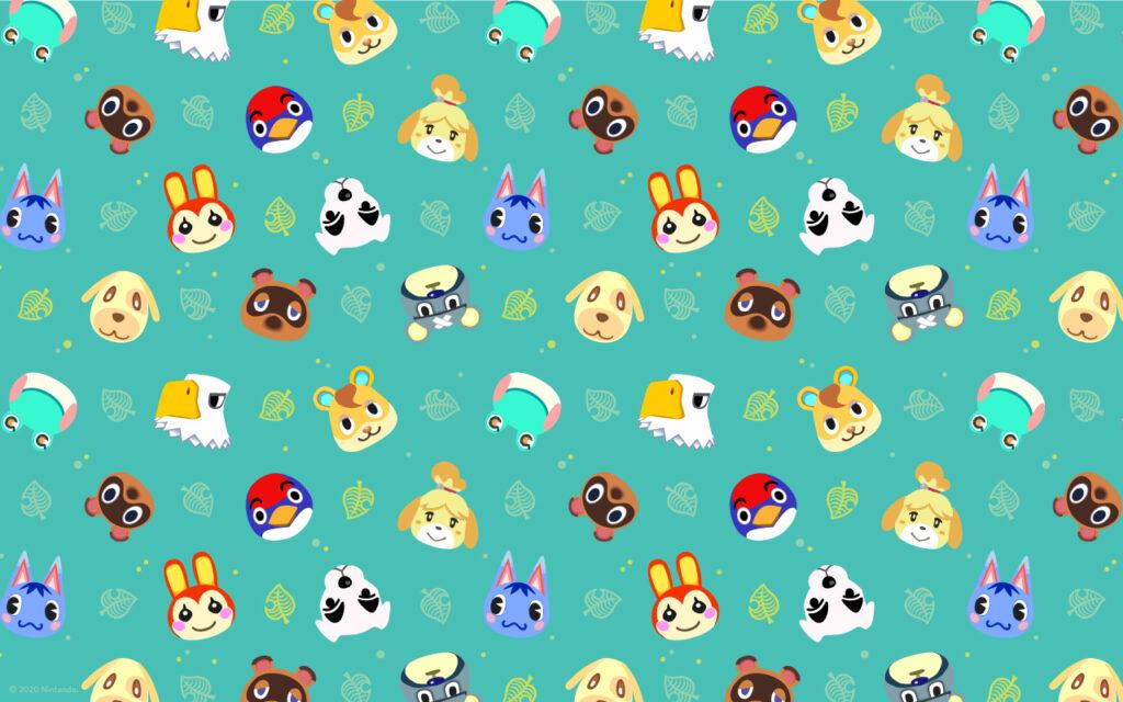 Das Bild zeigt einen der drei verfügbaren Wallpaper zu Animal Crossing: New Horizons.