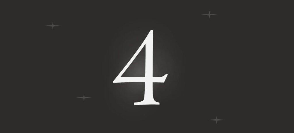 Das Bild zeigt die große Zahl 4 auf der Teaser-Webseite von PlatinumGames.