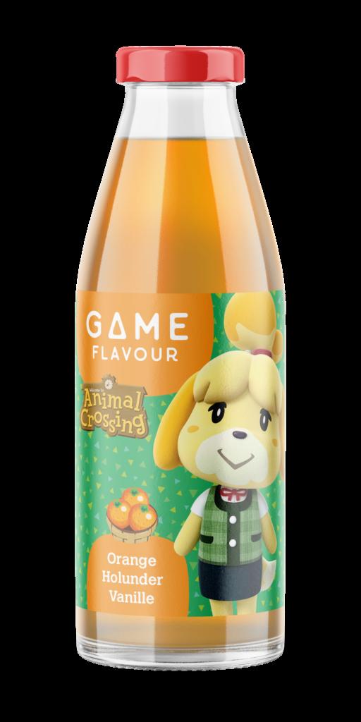 Das Bild zeigt eine Flasche des Getränkes zu Animal Crossing: New Horizons.