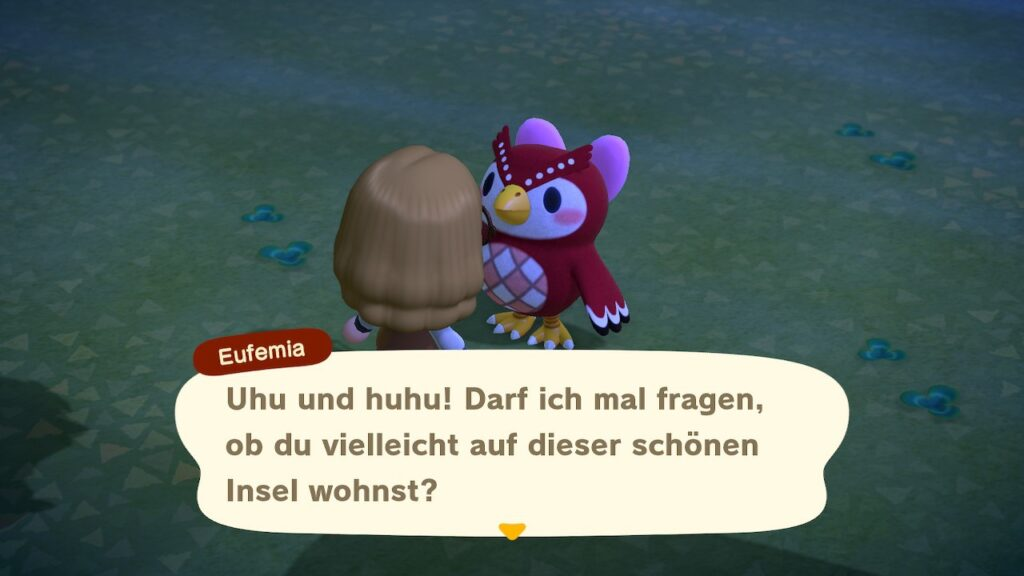 "Das Bild zeigt Eufemia in ""Animal Crossing: New Horizons""."