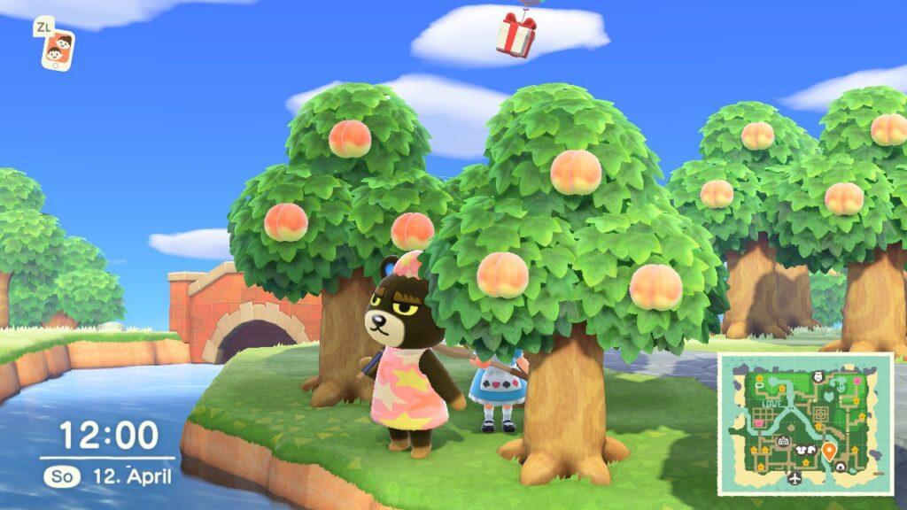 """Das Bild zeigt einen Ballon zur Osterzeit in """"Animal Crossing: New Horizons""""."""