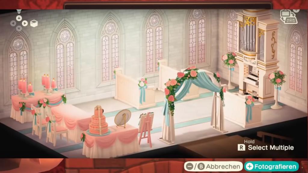 """Das Bild zeigt alle Items vom Hochzeit-Event in """"Animal Crossing: New Horizons""""."""