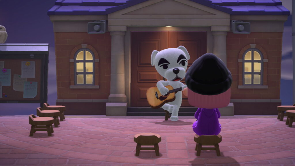 "Das Bild zeigt K.K. in ""Animal Crossing: New Horizons""."