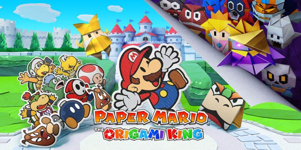 """Das Bild zeigt das Key-Art zu """"Paper Mario: The Origami King"""". Nintendo handhabt Corona flexibel und enthüllt spontan."""