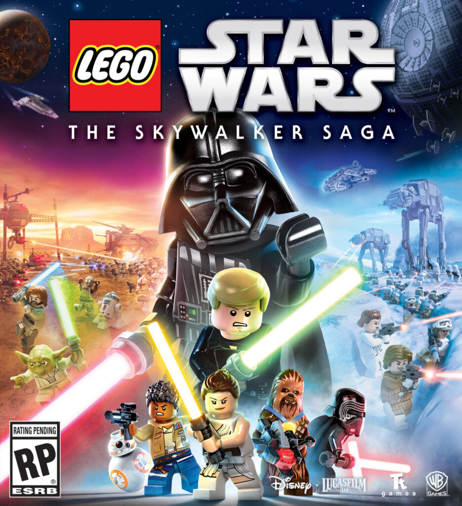 """Das Bild zeigt das Haupt-Artwork von """"LEGO Star Wars: Die Skywalker-Saga""""."""
