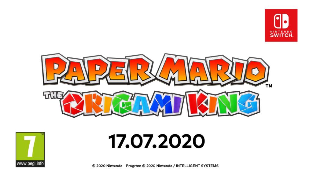 """Das Bild zeigt das Release-Datum zu """"Paper Mario: The Origami King"""", welches ein neues Paper Mario für die Nintendo Switch ist."""
