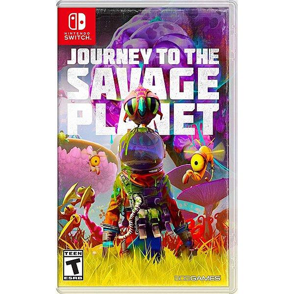 """Das Bild zeigt die Retail-Version von """"Journey to the Savage Planet""""."""