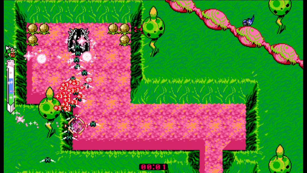 """Das Bild zeigt eine Szene aus dem neuen Minigame-DLC """"Kanna Raising Simulator"""" zu dem Spiel """"Blaster Master Zero 2""""."""