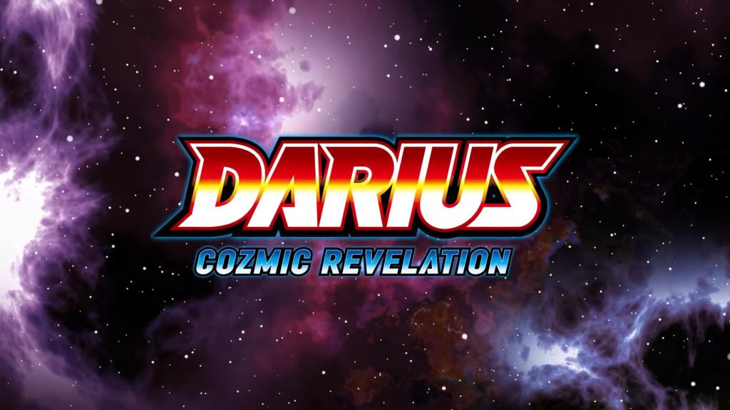 """Das Bild zeigt das Logo von """"Darius Cozmic Revelation""""."""