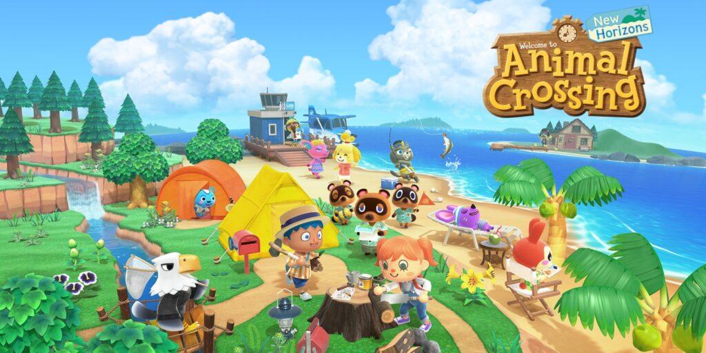 """Das Bild zeigt ein Keyart zu dem Spiel """"Animal Crossing: New Horizons""""."""