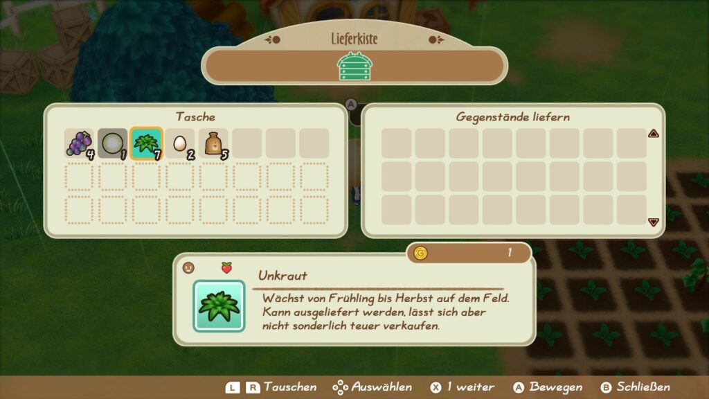 "Das Bild zeigt die Lieferkiste in ""Story of Seasons: Friends of Mineral Town""."