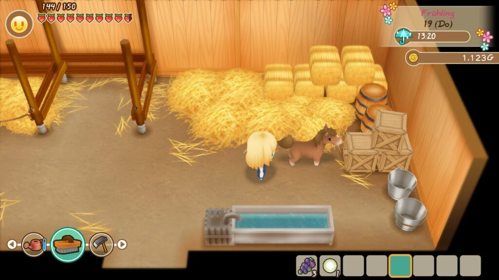 "Das Bild zeigt mein Fohlen in ""Story of Seasons: Friends of Mineral Town""."