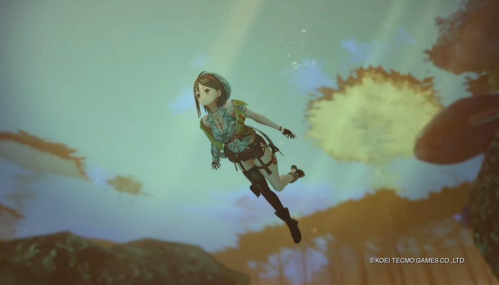 """Das Bild zeigt eine rauchende Ryza in """"Atelier Ryza 2""""."""
