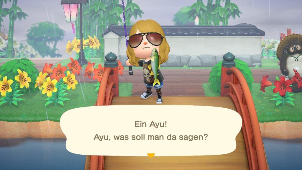 "Das Bild zeigt den Ayu in ""Animal Crossing: New Horizons""."