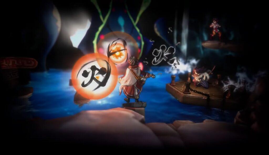 """Das Bild zeigt, wie ein Held in """"Eiyuden Chronicle: Hundred Heroes"""" einen magischen Angriff spricht."""
